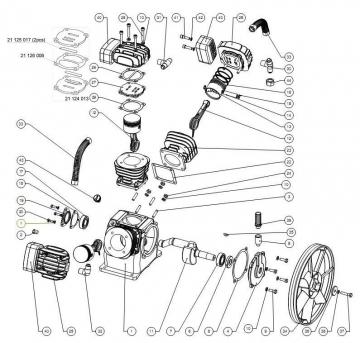 Ремонт компрессоров СО-7Б, СО-243, У43102, LB-30, LB-40, LB-50, LB-75, С416С, С416М, С415М, С412 К-2У, торговых марок Aircast, REMEZA, ELPA, Лидер и др.